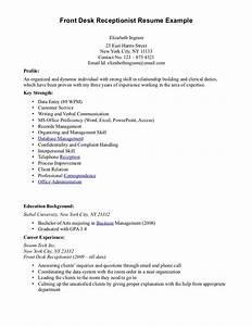Dental Receptionist Resume Skills Front Office Receptionist Desk Resume