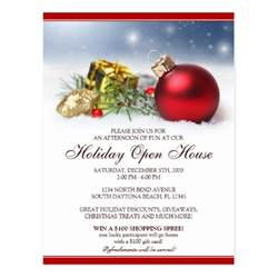 Holiday Open House Invitation Template