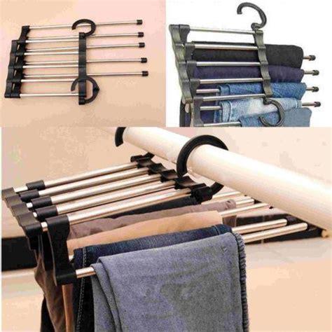 1pcs multi trousers hooks stainless steel rack