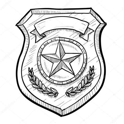 Kleurplaat Politie Logo by Politie Of Brandweer Badge Schets Stockvector
