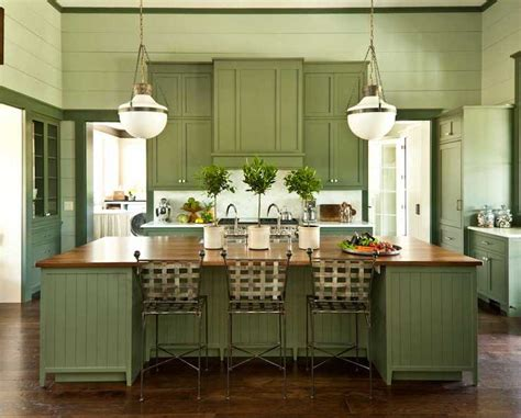 green cabinets cottage kitchen sherwin williams