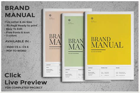 professional brand manual templates  promote brand