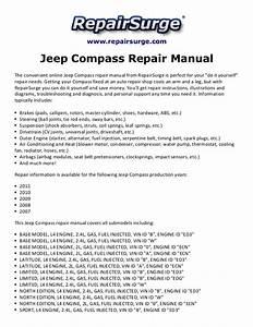 Jeep Compass Repair Manual 2007 2011