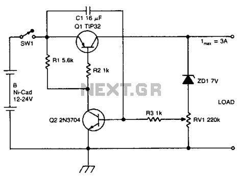 Cad Discharge Limiter Schematic Electronic Projects