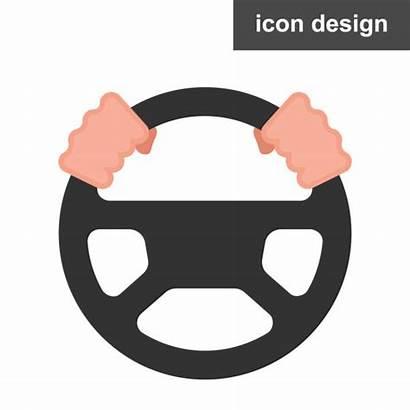 Steering Wheel Icon Driver Vector Clip Illustration
