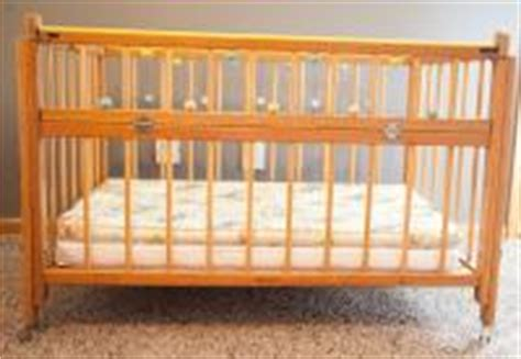 wooden portable crib vintage 1960s portable baby bed crib wood fold side