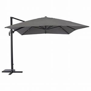 Parasol Déporté Aluminium : parasol en aluminium 3x4 fresno d port et inclinable hesp ride ~ Teatrodelosmanantiales.com Idées de Décoration