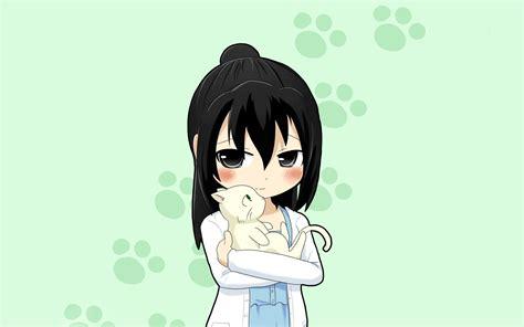 cute anime girl kitten wallpaper animals wallpaper