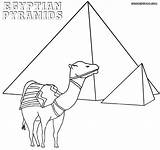 Egyptian Egypt Coloring Pyramids Drawing Getdrawings sketch template