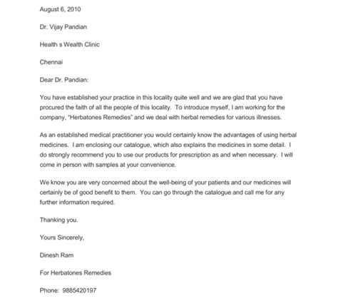 marketing letter template  samples word
