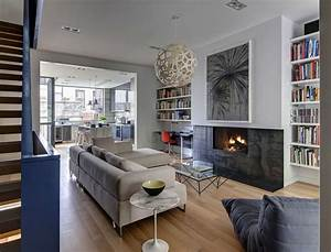 Stylish townhouse interior in new york for Interior design living room townhouse