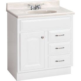 Bathroom Cabinets At Lowes by Shop Project Source 30 In White Traditional Bathroom