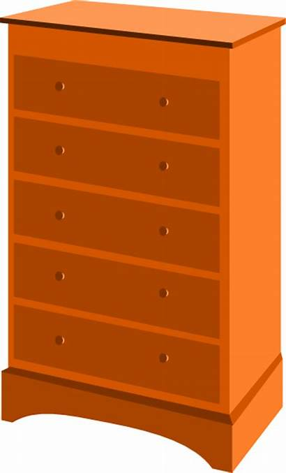 Dresser Drawer Drawers Chest Clipart Clip Furniture