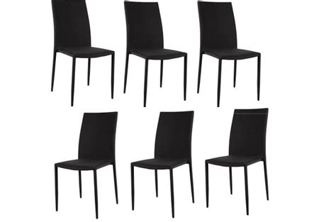 lot 6 chaises noires lot de 6 chaises empilables noires design chaise pliante