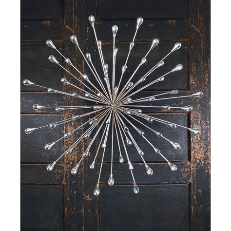 metal starburst wall decor tripar international inc 31 in metal silver 7474