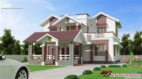 2 floor houses beautiful 2 floor villa design kerala home design