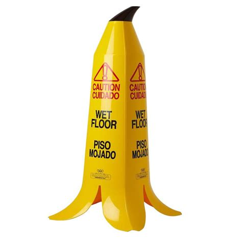 Banana Skin Floor Sign by 36 In Banana Cone Multi Lingual Caution Floor Sign
