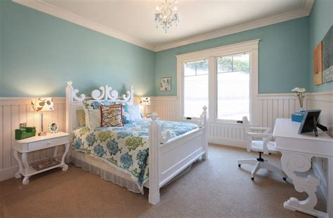 San Diego Wainscoting Bedroom Ideas Kids Traditional With