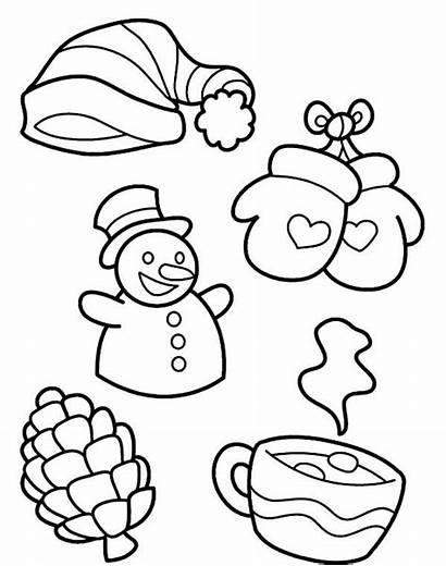 Coloring Winter Symbols Season Kind Pages Drawing