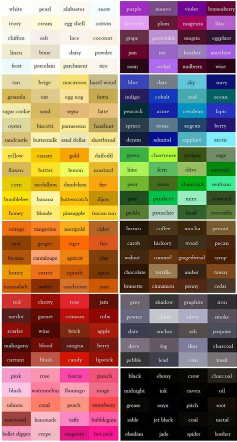 best 25 color names ideas inspire thesaurus names of colors and what is color