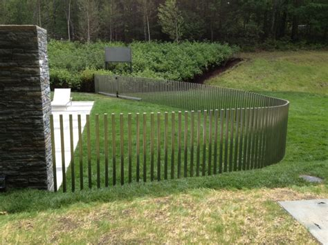 pool fencing styles pool modern stainless steel pool fence design featuring vertical curve pool fencing and natural