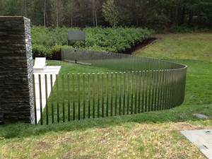 Pool Modern Stainless Steel Pool Fence Design Featuring