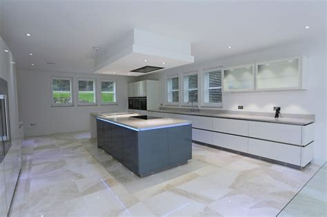 flush mounted ceiling extractor contemporary kitchen