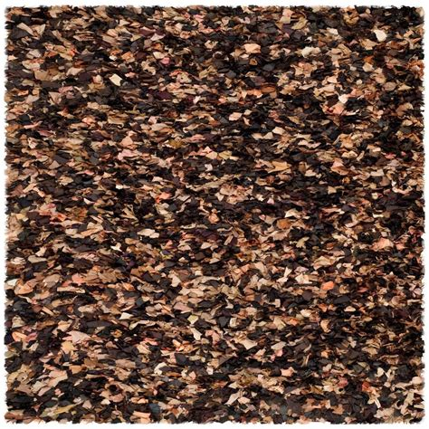 Brown Shag Area Rug by Safavieh Shag Brown Multi 6 Ft X 6 Ft Square Area