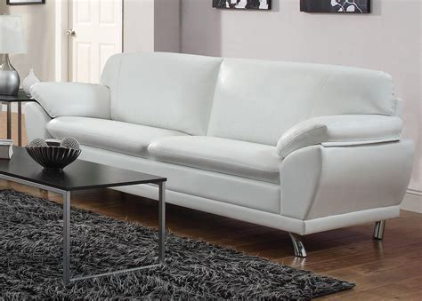 White Leather Loveseat by Coaster Robyn 504541 White Leather Sofa A Sofa