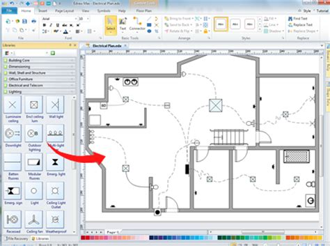 House Wiring Plan by Home Wiring Plan Software Wiring Plans Easily