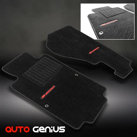 s2000 floor mats extended 00 09 s2000 ap1 ap2 extended design all black floor mats