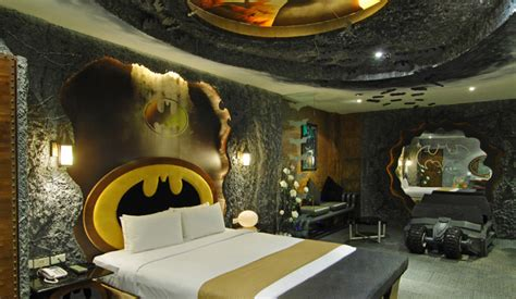 the coolest bedrooms in the world batman hotel room is the coolest hotel room ever pics global geek news