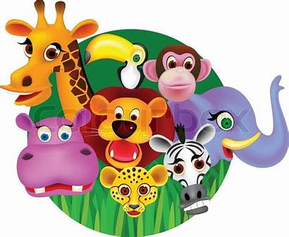 Cartoon Animal Animals Clip Selva Bso Libro