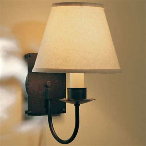 single light wall sconce with shade by hubbardton forge modern wall lighting by lumens