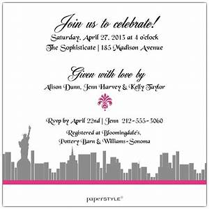 enchanted new york city bridal shower invitations paperstyle With wedding invitation shops nyc