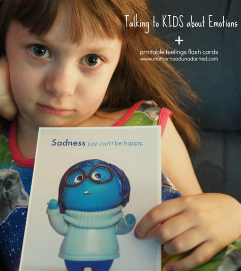 Talking To Kids About Emotions, Plus Printable Feelings Flash Cards Inspired By Inside Out