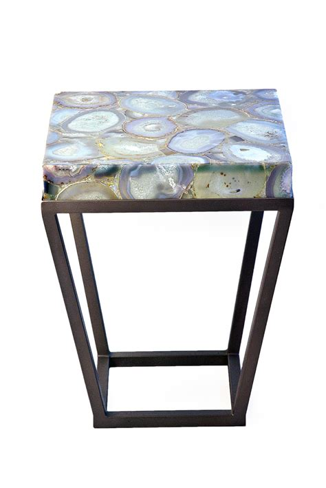 Kitchen Bookcase Ideas - jemagate agate side table mecox gardens
