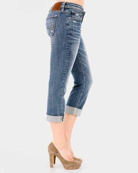 big star jeans rikki  rise crop  archstone  blue archstone lyst