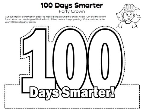 100th Day Of School Crown Template by 1000 Images About 100th Day On Count Maths