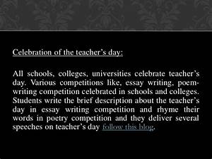 importance of teachers day essay