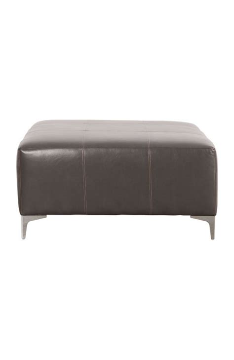 large oversized brown leather ottoman modern furniture