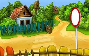 Télécharger fonds d'écran le village, dessin animé ...