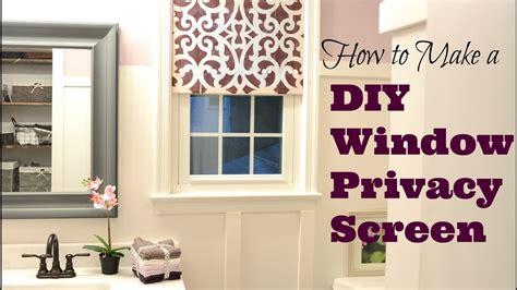 Fenster Sichtschutz Diy by How To Make A Pretty Diy Window Privacy Screen Diy