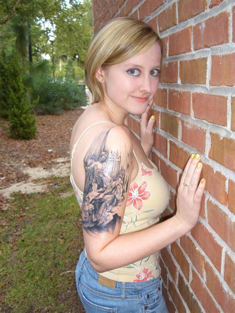 tattoo tattooz upper arm tattoos  girls