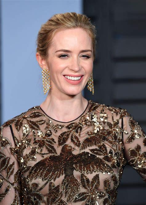 Emily Blunt – 2018 Vanity Fair Oscar Party in Beverly ...