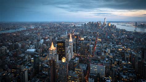Modern Day City Skyline View Hd Wallpaper 21 5120x2880