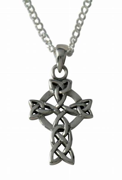 Cross Celtic Pendant Necklace Jewelry Sterling Silver