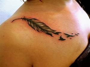 Feather Bird Tattoos Designs, Ideas and Meaning | Tattoos ...