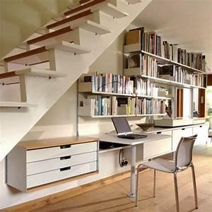 Bureau Sous Escalier : comment exploiter les espaces sous les escaliers ~ Farleysfitness.com Idées de Décoration