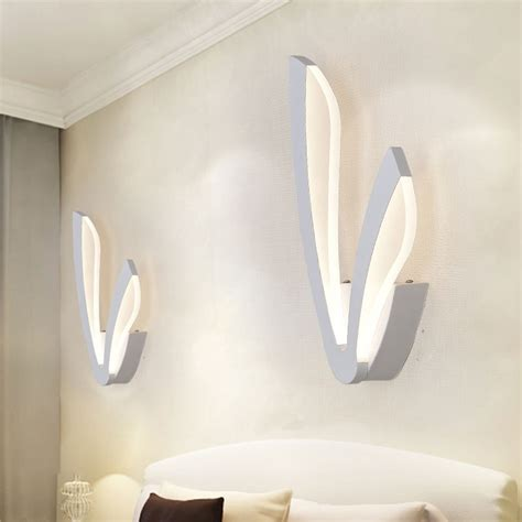 modern acrylic l 9w led wall lights bedroom kitchen stair living room decor wall sconce